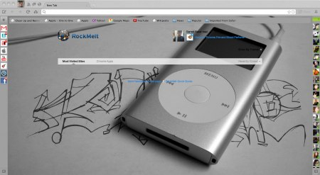 Apple ipod graffti theme